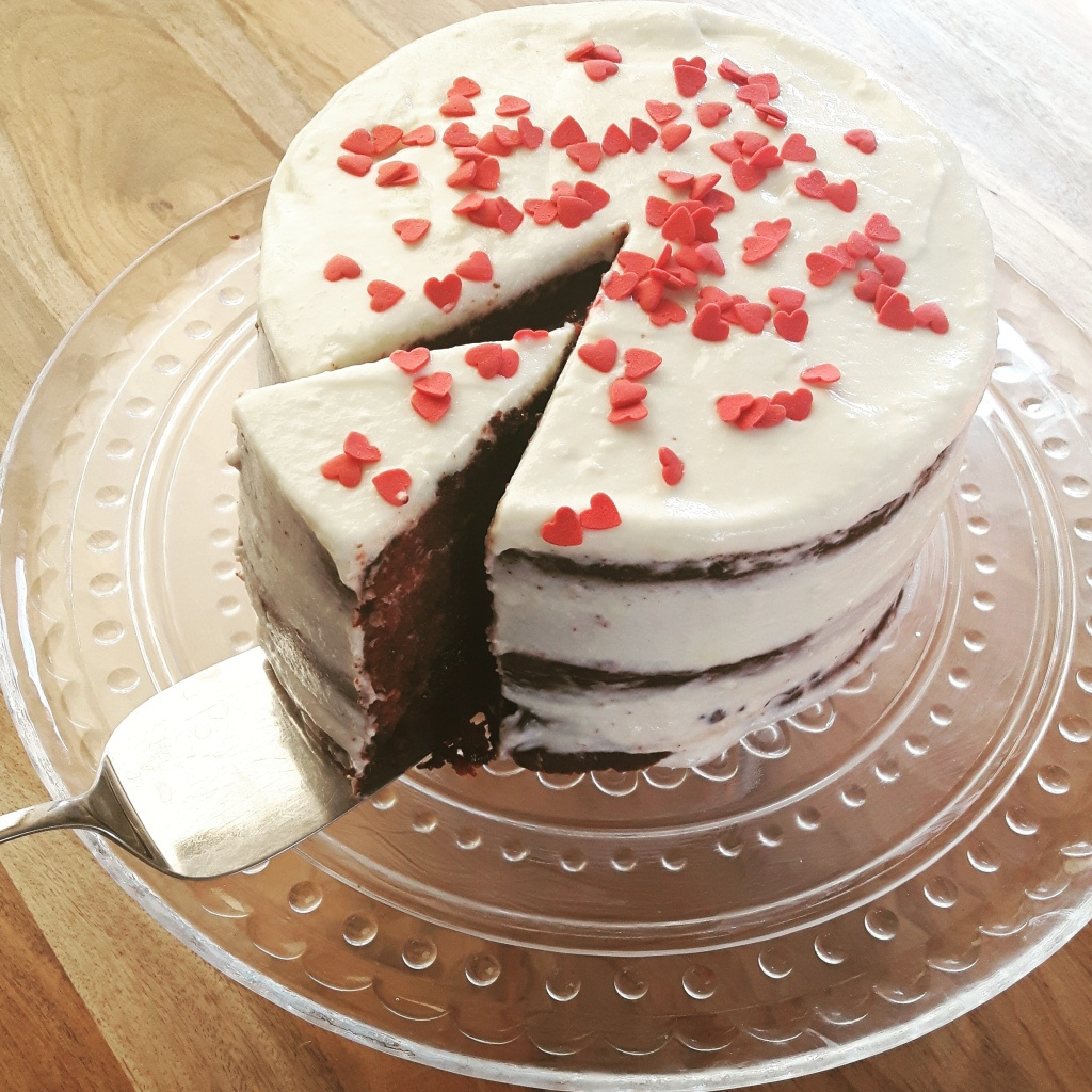 Naked Red Velvet Cake With Cream Cheese Icing recipe