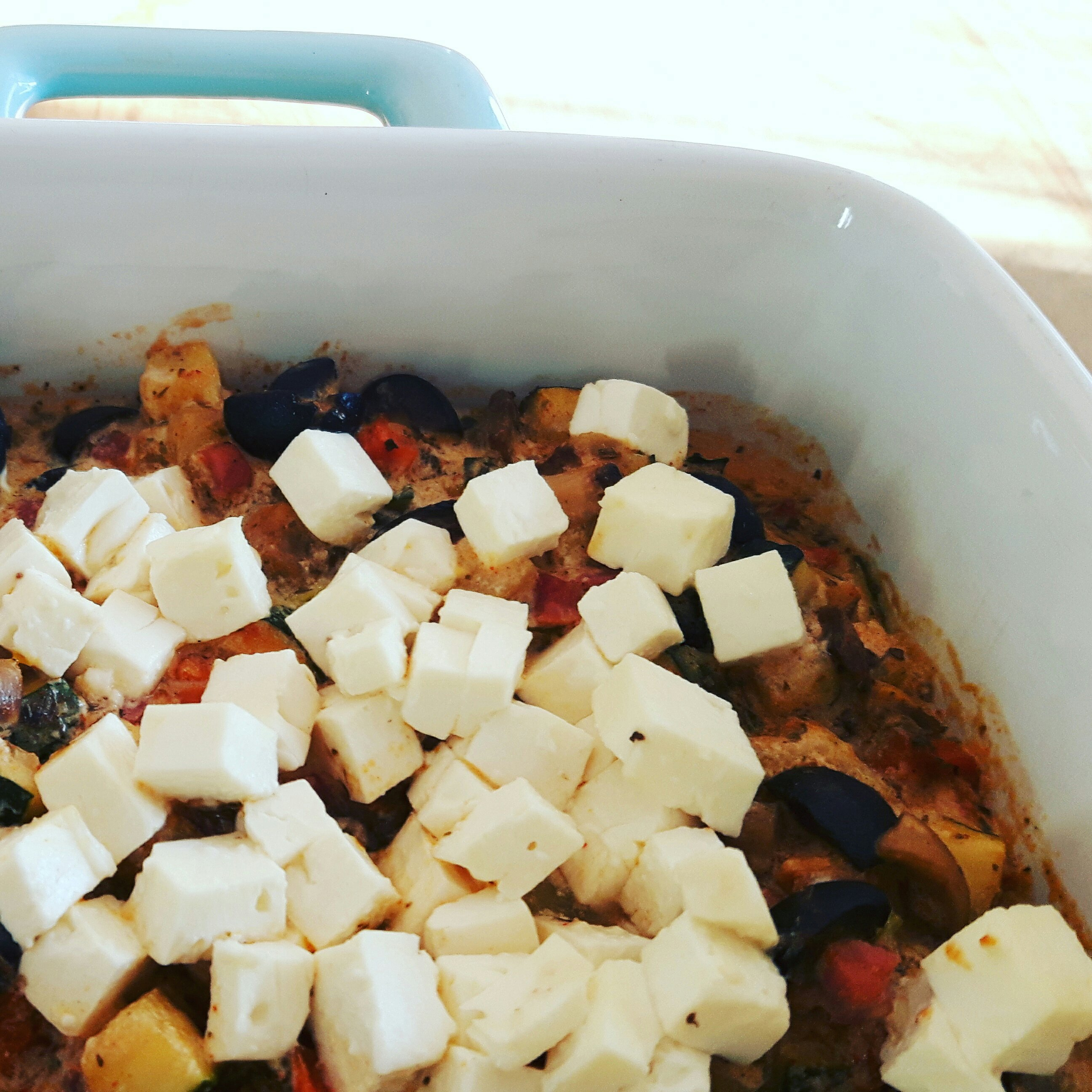 Greek Veggie Feta Casserole recipe