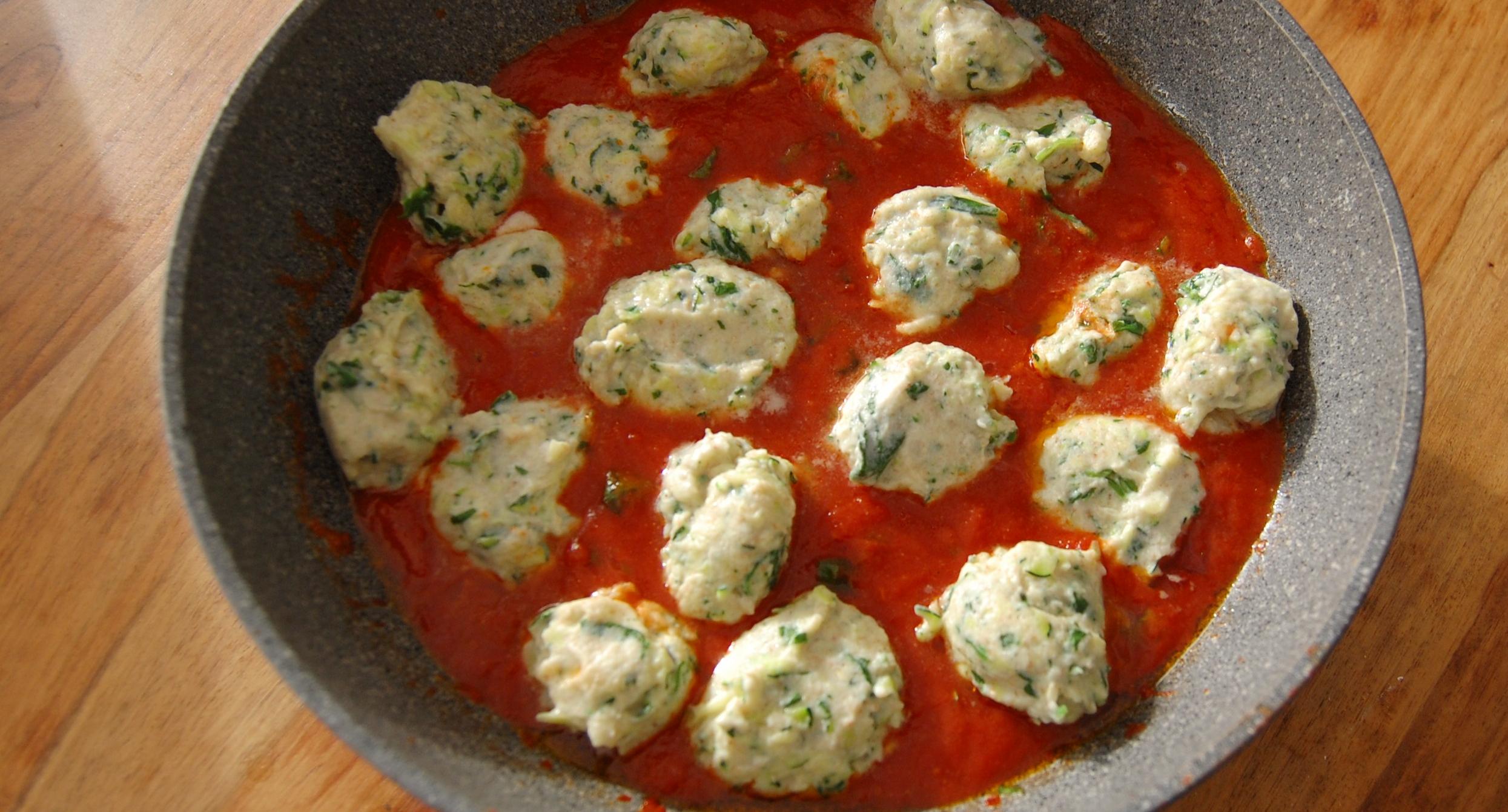 Ricotta Zucchini Spinach Dumplings recipe