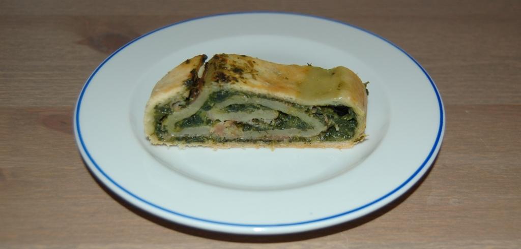 Spinach and ham pizza rolls recipe