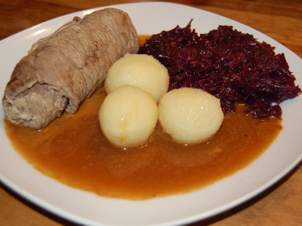 tender German beef roulade with gravy recipe