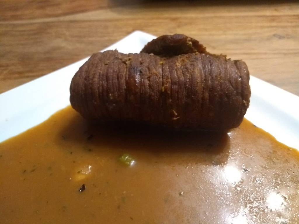 tender German beef roulade with gravy recipe