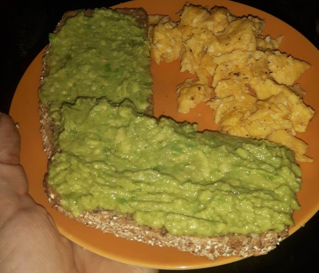 Crushed avocado bread recipe