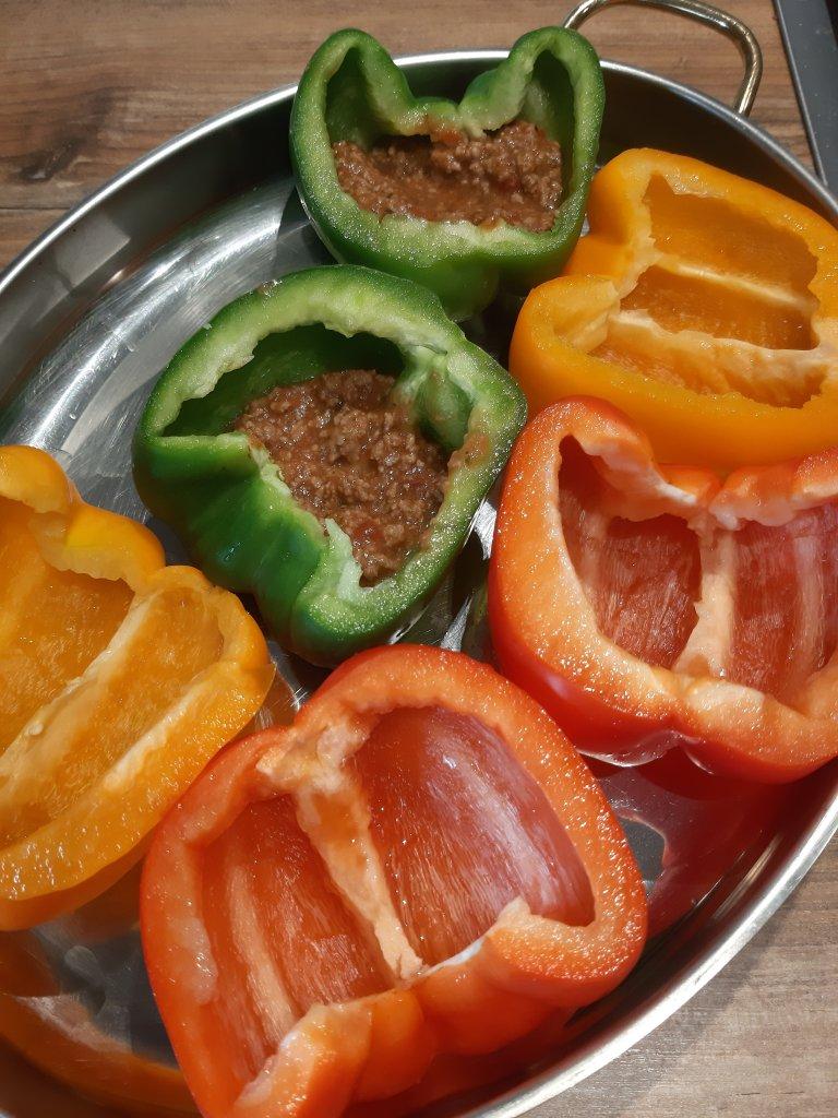 Stuffed lasagna pepper recipe